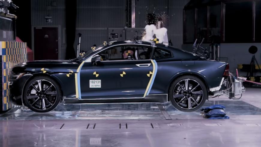 Супер-купе Polestar 1 скарбоновым корпусом прошло краш-тест