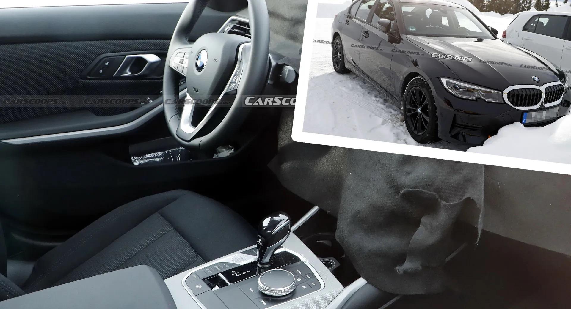 Обновленный BMW 3-й серии скрывает новый интерьер с изогнутым дисплеем
